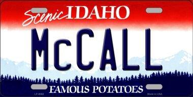 Idaho License Plate - McCall Idaho Background Novelty Metal License Plate LP-9868