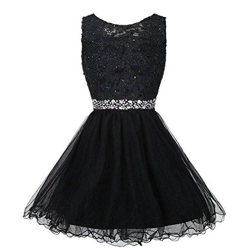Kleid Linie Damen Drasawee A Schwarz 6TtwqYwnp