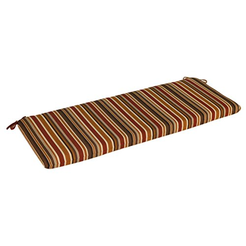(Outdoor Fade, Water and Stain Resistant Multi-Colored Outdoor Reversible Sunbrella Bench Cushion (360-3192). 48