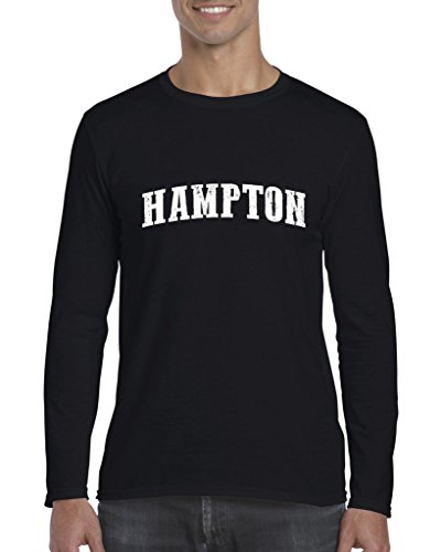 Hampton City Commonwealth Virginia State Flag Traveler`s Gift Men's Softsyle Long Sleeve T-Shirt (MB) -