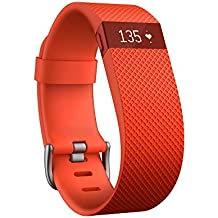 Fitbit Charge Heart Rate Monitor and Activity Tracker, Color- Orange, Size- Large