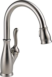 Delta Leland 9178-sp-dst Single Handle Pull-down Kitchen Faucet With Magnatite Docking & Shieldspray Technology, Spotshield Stainless