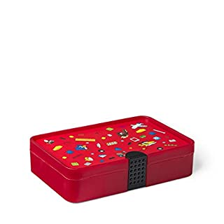 Room Copenhagen, Lego Sorting Box - Brick Storage with Organizing Dividers - Iconic Red (40840001)