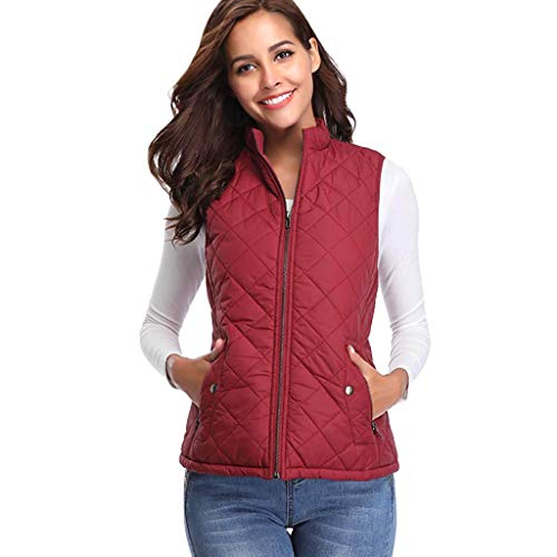 Women Thick Warm Waistcoat Vest,Ladies Sleeveless Winter Jacke Coat (XL, -