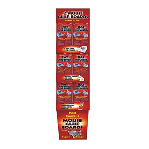 Pest Control Mouse Glue Board 2PK Floor Display , Case of 144