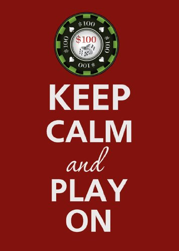 (Rectangle Refrigerator Magnet - Keep Calm and Play On Poker Chip)