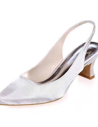 ShangYi Schuh Damen - Hochzeitsschuhe - Quadratische Zehe - High Heels - Hochzeit / Party & Festivität -Schwarz / Blau / Lila / Rot / Elfenbein / Weiß , 2in-2 3/4in-ivory