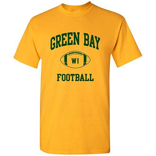 - Green Bay Classic Football Arch Basic Cotton T-Shirt - 3X-Large - Gold