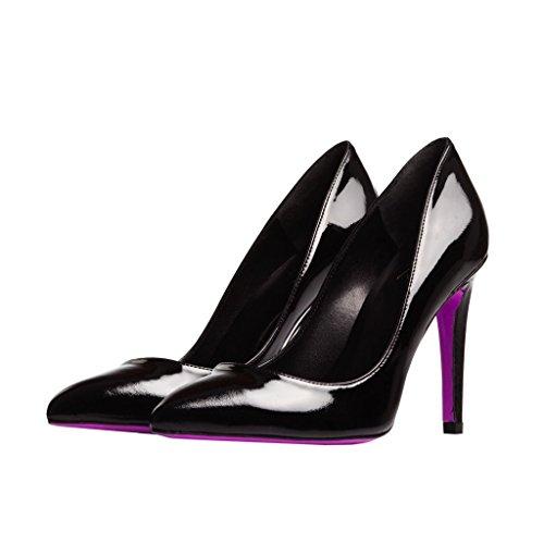 Verni Talons Haut Pink The Stiletto Numero Cuir 41 Noir Heel En xnf71Sq01