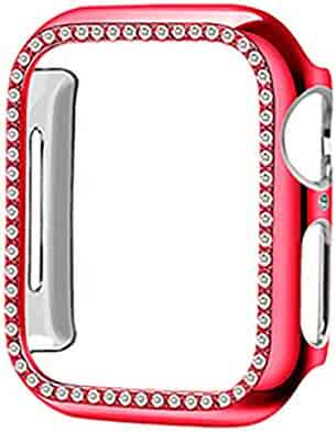 Tonsee Smart Watch, Protective Cover TPU Bling Diamond Crystal Shiny for Apple Watch 2/3 42 mm Steady and Secure,Durable and Stylish Watch