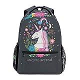 ZZKKO Animal Unicorn Boys Girls School Computer Backpacks Book Bag Travel Hiking Camping Daypack