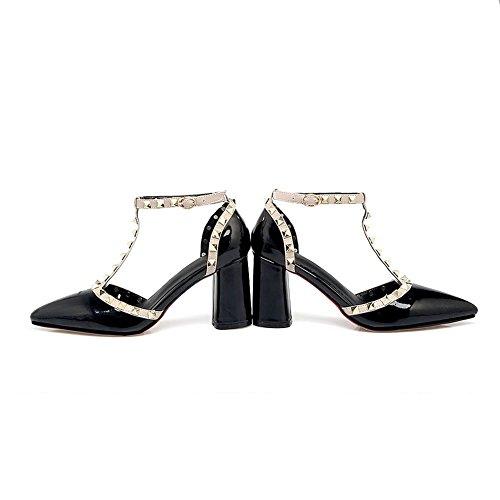 Noir Sandales Inconnu Compensées 1TO9 Femme 6qpRYwIY8x