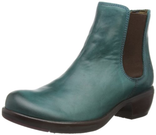 Make Fly 007 London Donna Petrol Verde Stivali Chelsea B6wq5wz