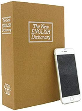 BOOKSAFEBOX Caja Fuerte En Forma De Libro, Caja De Caudales Camuflada, Páginas De Papel Auténticas,Yellow: Amazon.es: Hogar