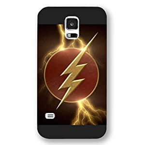 UniqueBox The Flash Custom Phone Case for Samsung Galaxy S5, DC comics The Flash Customized Samsung Galaxy S5 Case, Only Fit for Samsung Galaxy S5 (Black Frosted Shell)