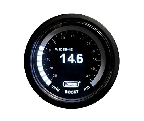 Proport Gauges Wideband Air Fuel Ratio Gauge Kit + Boost White OLED
