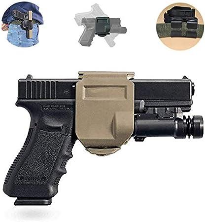 Gexgune Funda de cinturón de Pistola táctica para Glock 17 22 23 Funda de Pistola de Pistola Airsoft Funda de Bolsa de Clip de Pistola Izquierda y Derecha Accesorios de Caza