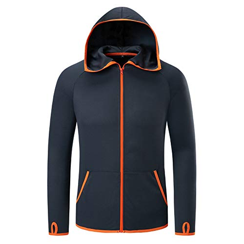 Mladen Men's Performance Hoodie Lightweigt Tech Fishing Hooded Jacket Hydrophobic Breathable Sun Protection Athletic Hoodies(XL) ()