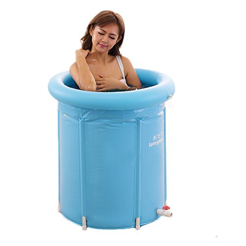 uruoi unisex inflatble bath tub adult and baby spa foldable bathtub large size blue. Black Bedroom Furniture Sets. Home Design Ideas