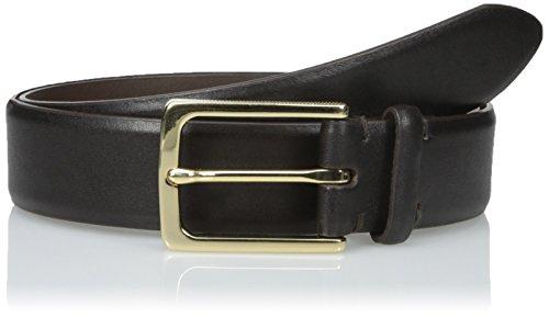 John Varvatos Embossed Belt (John Varvatos Men's 35mm Harness Feather Edge Strap, Espresso,)