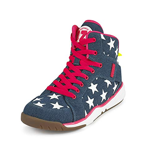 Zumba Women's Energy Boom High Top Athletic Shoes Dance Training Workout Sneakers, Denim Dream, 8 Regular US