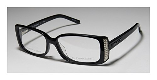 Trussardi 12704 Womens/Ladies Ophthalmic Celebrity Style Designer Full-rim Eyeglasses/Eyewear (54-14-135, Black)