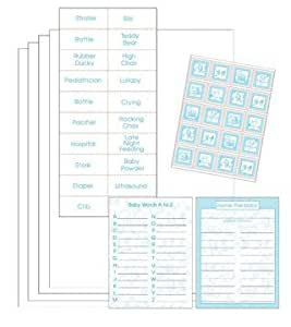 Creative Converting Nursery Toile Boy Bingo Game Kit - 60 Count