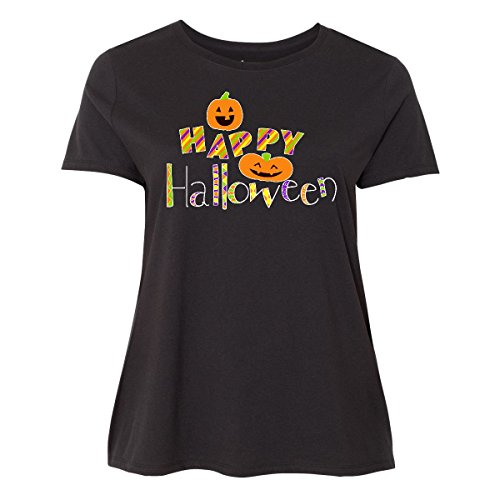 Inktastic - Happy Halloween- decorated Women's Plus Size T-Shirt 5 (30/32) Black