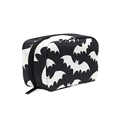 Black Batman Portable Travel Makeup Cosmetic Bags Organizer Multifunction Case Toiletry Bags for Women ()
