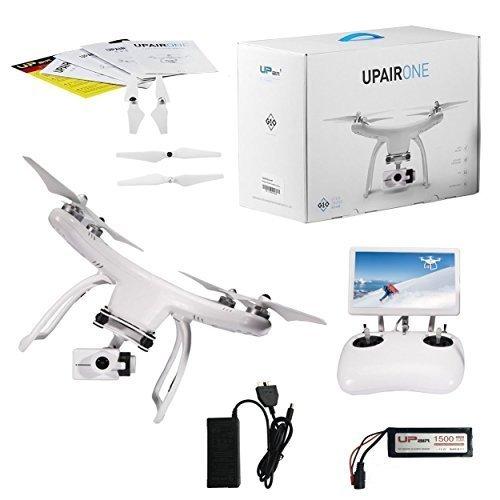 Upair One drone con cámara HD de 2.7K, monitor FPV 5.8G para transmisión de video en directo con control remoto de 2.4G, función de retorno automático GPS, una clave para visualizar pantalla de 18cm, dron cuadricóptero, 2.7K