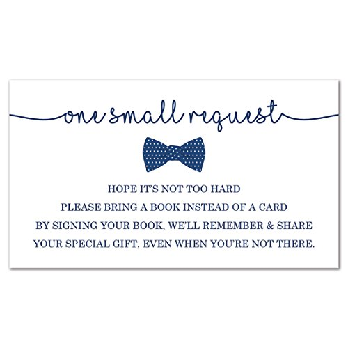 (MyExpression.com 48 Bow Tie Bring A Book Card (Navy) )