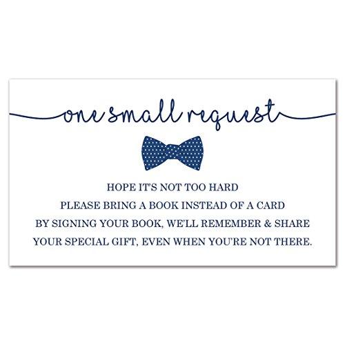 48 Bow Tie Bring A Book Card (Navy)