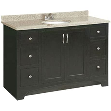 Design House 541292 Ventura 2 Door 4 Drawer Ready To Assemble Vanity Espresso 48 Inch By 21 Inch
