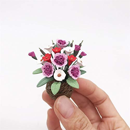NszzJixo9 1 PC Mini Dollhouse Miniature Green Plant Flower in Pot Fairy Garden Accessory Craft Kits Creative Accessory House Decoration -