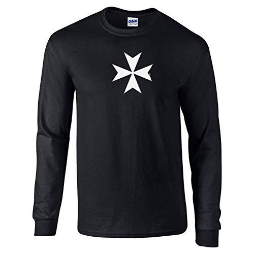 Got-Tee- The Maltese Cross Men Long Sleeves T-Shirt Medium Black