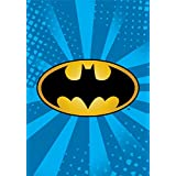Batman Emblem Starburst Blue Luxury Plush Blanket 60″x80″ Twin Size