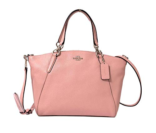Coach Leather Small Kelsey Cross Body Bag (Small, SV/Petal) ()