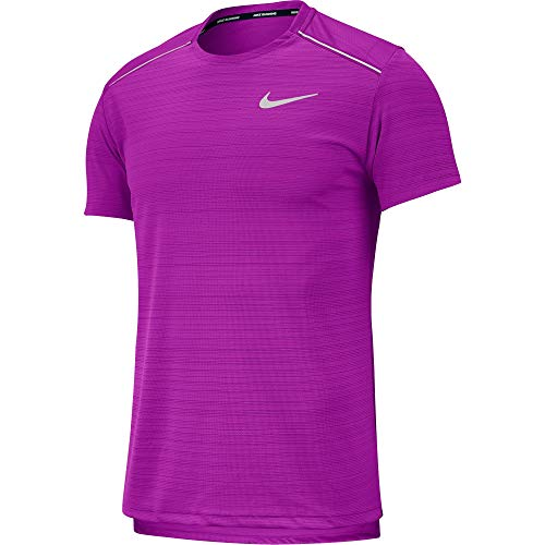 Nike Miler Breathe Men's Reflective Running Short Sleeve Top T Shirt Size 1