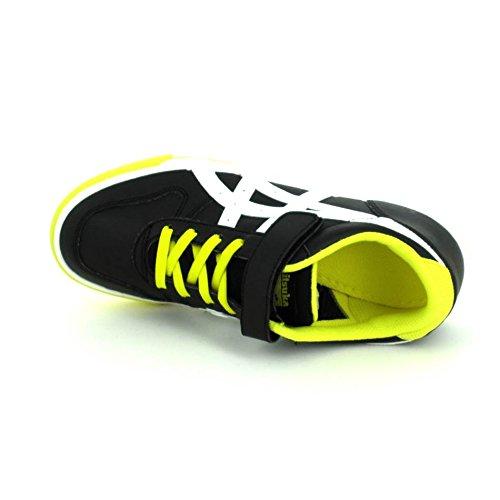 Asics, Sneaker bambini black - white - yellow 35
