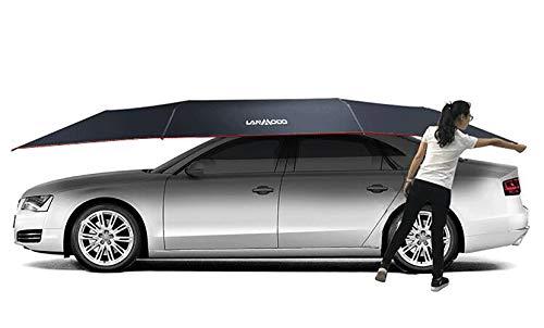 XNNSH Semi-Automatic Car Tent,Movable Carport Folded Portable Automobile Protection Car Umbrella Sunproof Car Canopy Cover,3.52.1m