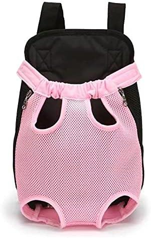 LORJE Cat Dog Travel Front Carrier Bag Backpack, Small Net Bag for Pet