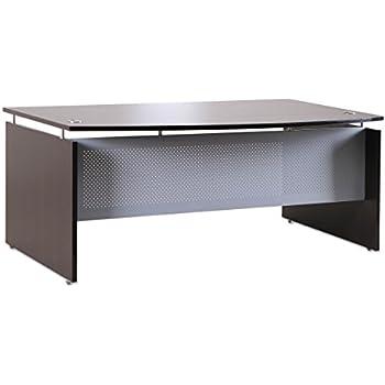 amazon com mayline mnd72lgs medina 72 w x 36 d desk with curved end rh amazon com