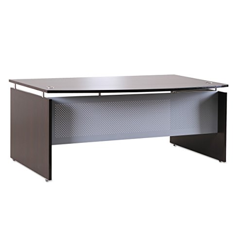 Alera ALESE227242ES Sedina Series Bow Front Desk Shell, 72w x 42d x 29 1/2h, Espresso