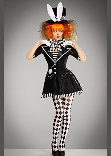 Delights Disfraz de Sombrerero Loco gótico Blanco y Negro para ...
