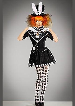 Delights Disfraz de Sombrerero Loco gótico Blanco y Negro para Mujer XL (UK  18-20)  Amazon.es  Juguetes y juegos 71d52b81e40