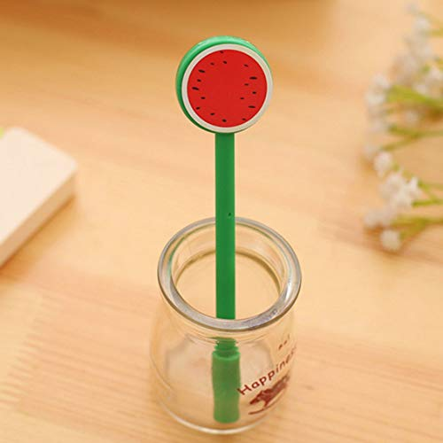Chelsea Cute Fruit Lollipop Gel Pens Kawaii Student Stationery Pen Office Supplies red Watermelon