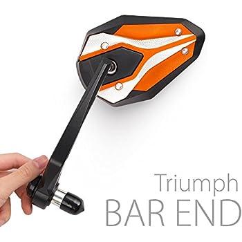 Amazon Com Bar End Mirrors Viperii Orange For Triumph