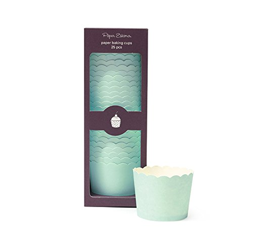 Paper Eskimo Baking Cup, Solid Mint, 25 Pack -