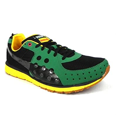 c01e3e210967 Puma Faas 300 Jam Mens Jamaica Running Shoes Lace Up Trainers - Black   Amazon.co.uk  Shoes   Bags