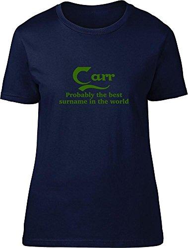 Carr & Day & probablemente la mejor apellido en el mundo Ladies T Shirt azul marino